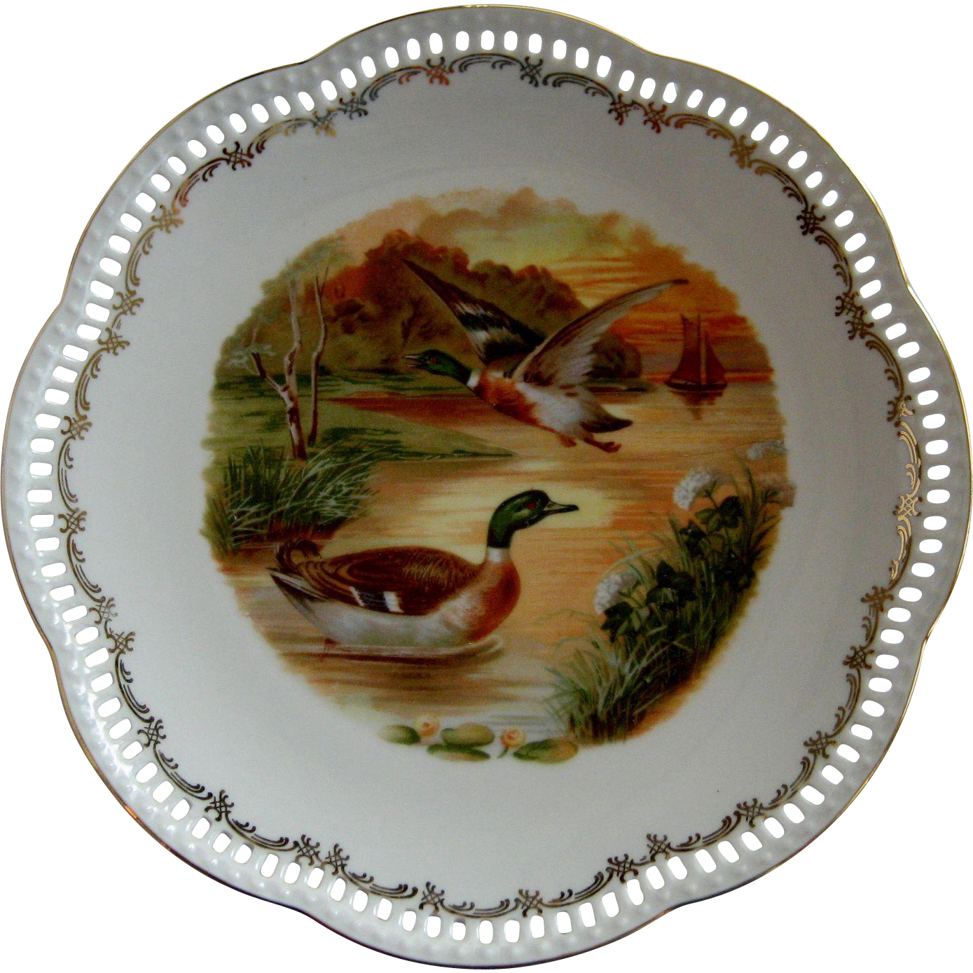 Schumann Arzberg Germany Cabinet Plates Duck Theme The