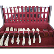 60 Pc. Set of Alvin Cameo Silverplate With Chest - 1935