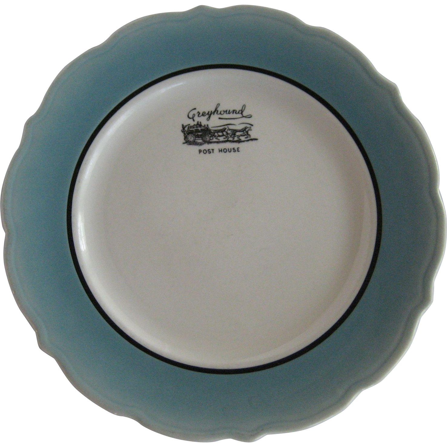 "2 Syracuse China ""Greyhound Post House"" Restaurant Ware Plates"