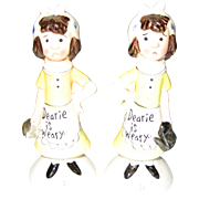 """Dearie Is Weary"" Salt and Pepper Shakers"
