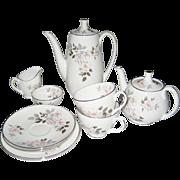 "Royal Adderley ""Silver Rose"" 12 Pc. Tea/Coffee Set"
