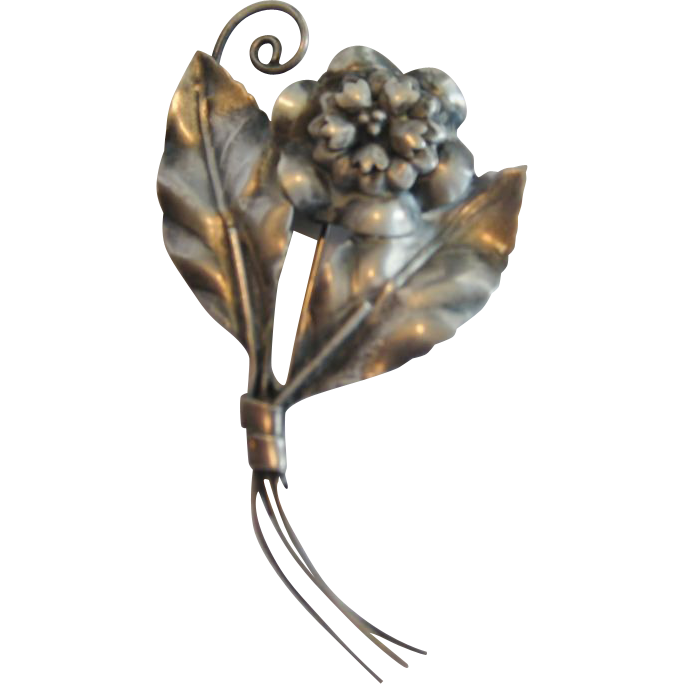 Sterling Flower Pin/Brooch