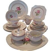 27 Pieces Homer Laughlin Eggshell Nautilus Calirose Dinnerware