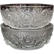 Verlys Rose Bowl, Set of 2, Circa 1945