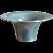 Cowan Pottery Squat Vase #573-B, Ca. 1923, Larkspur Lustre