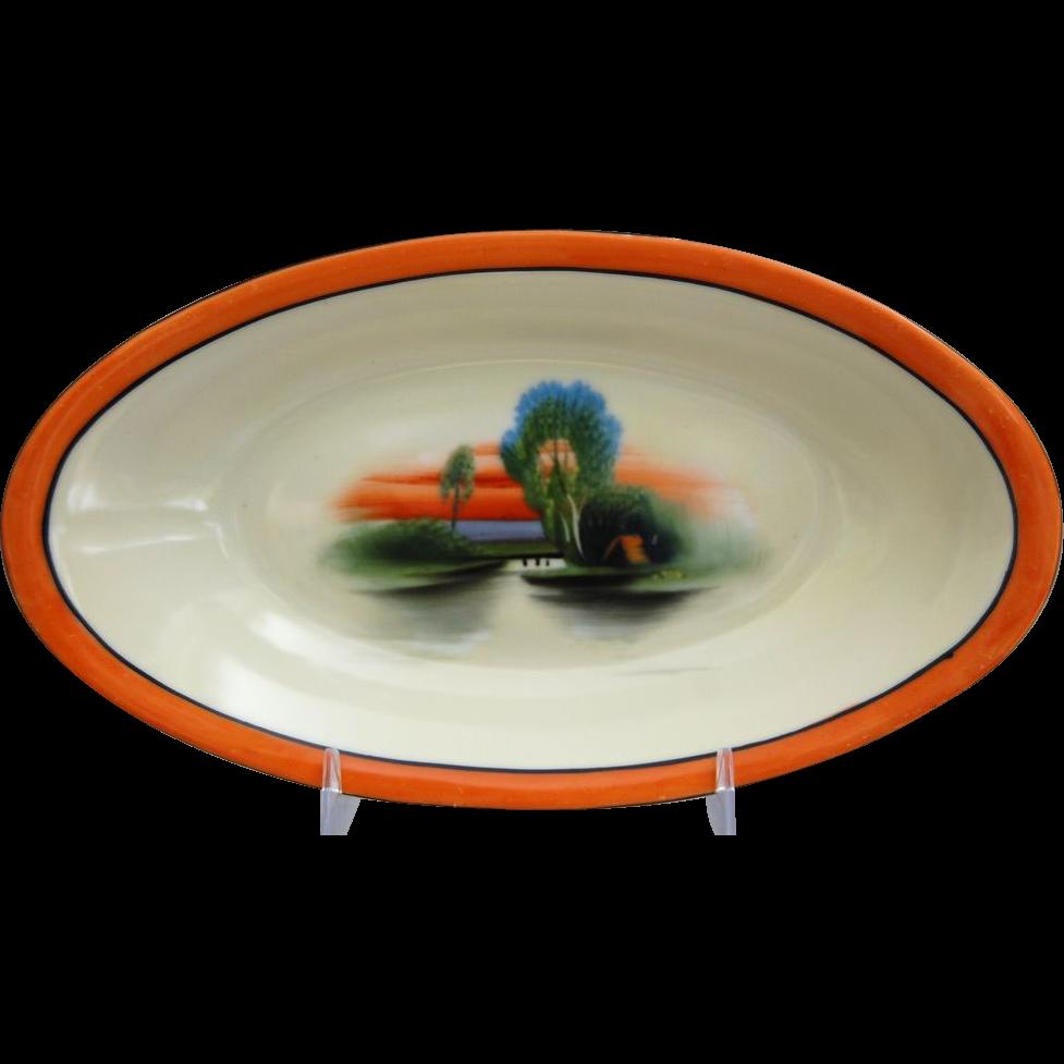 Noritake Porcelain Hand Painted Dish, Ca. 1925