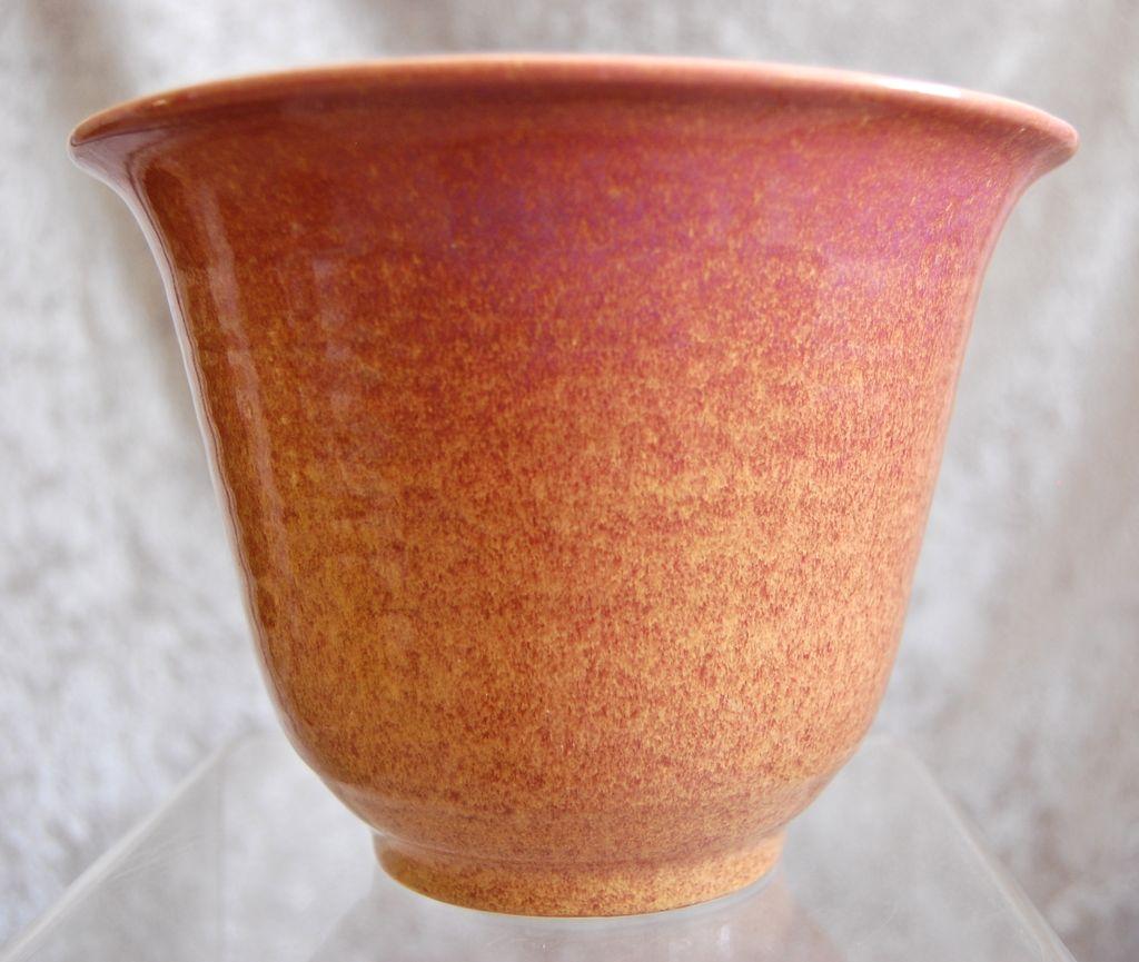 "Cowan Pottery Vase #V-36, ""Peach"" Matrix Glaze, Ca. 1930"