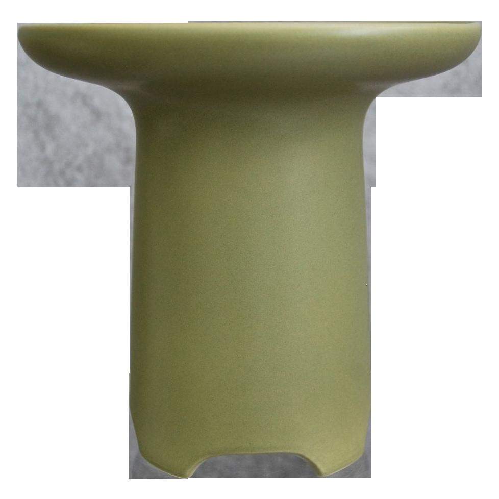 Large Hyalyn Porcelain Vase #451, Matte Green