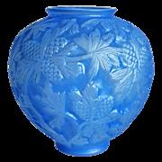 "Phoenix Glass ""Reuben Line"" Pine Cone Vase, Rare Blue Wash, Ca. 1934"