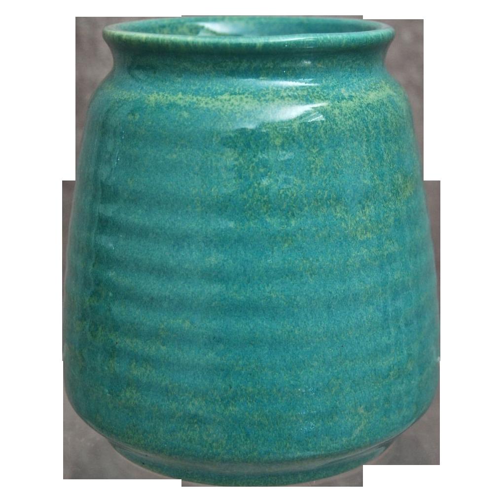 Cowan Pottery Vase #V-34, Azure, Ca. 1930