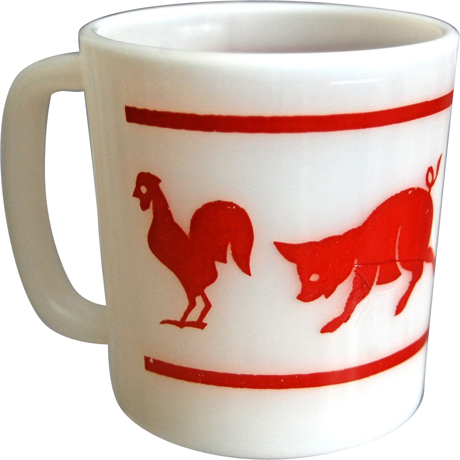 "Hazel-Atlas ""Kiddie Ware"" Animal Mug"