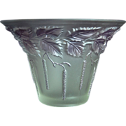 "Barolac Inwald Vase #614, ""Birch Leaves"", Purple Wash"