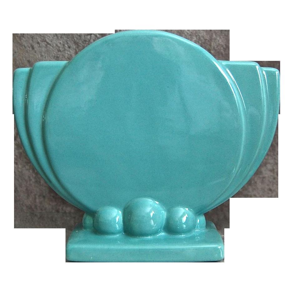 Haeger Pottery Art Deco Pillow Vase Circa 1940 From