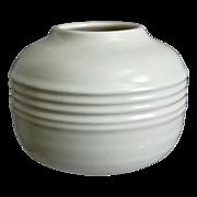 "Roseville Pottery Ivory Vase #585-4"", ""Rosecraft"" Shape, Circa 1932"