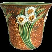 """Roseville Pottery Jonquil Vase w/Frog #94-5.5"""", Circa 1930"""