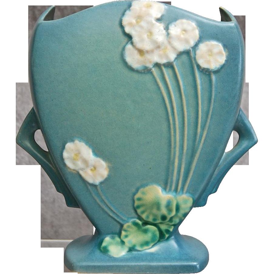 Roseville Pottery Primrose Pillow Vase 765 8 Blue Ca