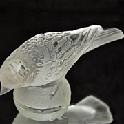 Barolac Czech Crystal Goldfinch Paperweight, Head Down