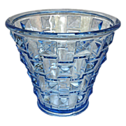 Orrefors Faceted Glass Vase, Blue, Circa 1930 - Red Tag Sale Item