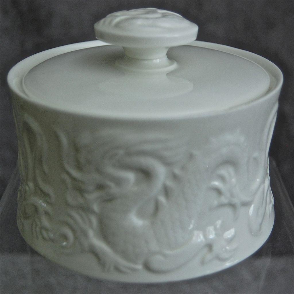 Coalport China Dragon Vanity Box/Sugar Bowl