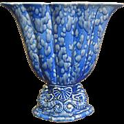 Cowan Pottery Large Seahorse Fan Vase Circa 1926, Verbena Glaze