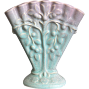"Weller Pottery 5"" Lavonia Fan Vase, Ca. 1925"