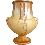 "Roseville Pottery Russco Vase #109-8"", Gold, Circa 1934"