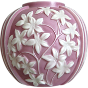 Phoenix Sculptured Artware Starflower Vase, Lavender Cameo, Ca. 1938