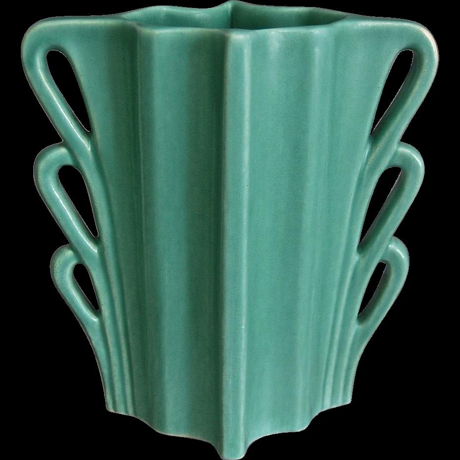 Camark pottery art deco vase wlabel circa 1935 sold on ruby lane camark pottery art deco vase wlabel circa 1935 reviewsmspy