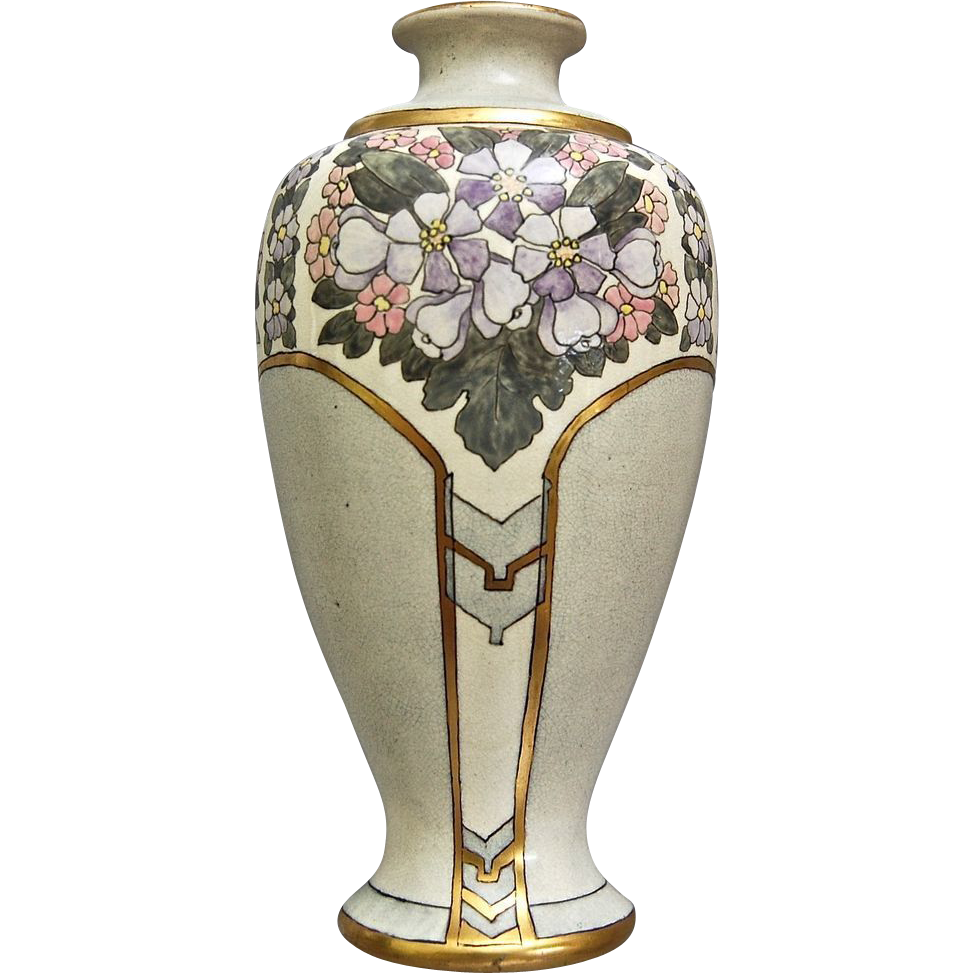 american satsuma art deco vase circa 1930 from. Black Bedroom Furniture Sets. Home Design Ideas