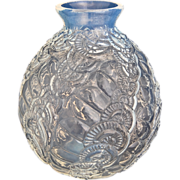 French Opalescent Glass Vase, Circa 1935