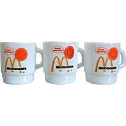 "Fire-King ""McDonald's"" Stackable Mug, Set of 3"