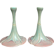 Newman Ceramic Works Candle Holders, Pair