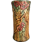 "Weller Pottery 10"" Woodcraft Vase, Circa 1925 - Red Tag Sale Item"