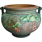 "Large Roseville Pottery Fuchsia Jardiniere #645-8"", Circa 1938"