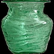 Consolidated Catalonian Rose Jar #1109-B, Emerald Green, Ca. 1929