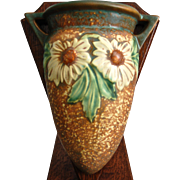 "Roseville Pottery Dahlrose Wall Pocket #1258-8"", Circa 1928"