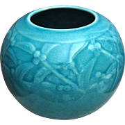 Rookwood Pottery Production Vase #6545, Turquoise, 1945