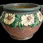 "Roseville Pottery Dahlrose Jardiniere #614-6"", Circa 1928"