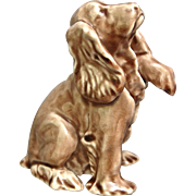 Rookwood Pottery Cocker Spaniel Paperweight #7024, Wine Madder Glaze, 1952