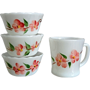 Fire-King Peach Blossom 4 Piece Set