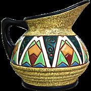 Amphora Reissner Enameled Pitcher, Circa 1925