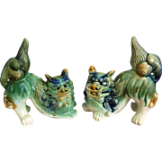 Vintage Ceramic Foo Dog Pair