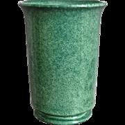 """Cowan Pottery Vase #V-2-D, """"Fir Green"""" Matrix Glaze, Ca. 1930"""