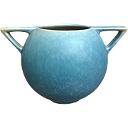 "Roseville Pottery Rozane Pattern Rose Bowl #398 4"", Blue, Circa 1941"