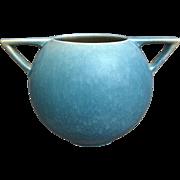 "Roseville Pottery Rozane Pattern Rose Bowl #398-4"", Blue, Circa 1941"