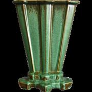"Cowan Pottery Modernist Vase #V-852, ""Antique Green"" Glaze, Circa 1929"