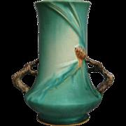 "Roseville Pottery PineCone Vase #842-8"", Green, Circa 1936"