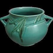 """Roseville Pottery Velmoss Rose Bowl #264-5"""", Green, 1935"""