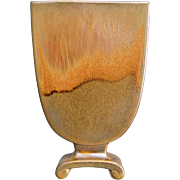 "Cowan Pottery Pillow Vase #797, ""October"" Glaze, Circa 1928, #2"
