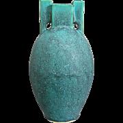 """Jemerick Art Pottery """"Prairie"""" 8"""" Vase, Green"""